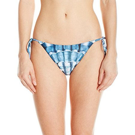 Mara Hoffman Women's Lei String Bikini Bottom Swimsuit, Shells Marine, - Shell Lei