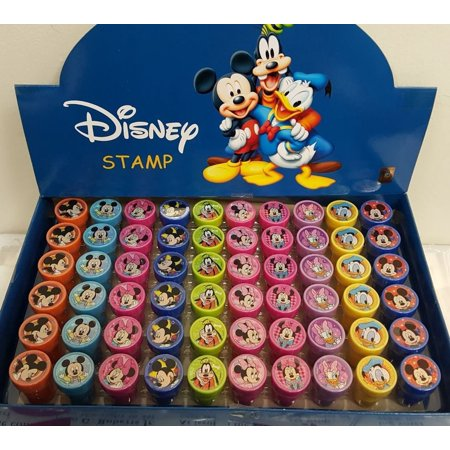 60 PCS Disney Mickey Mouse Self-inking Stamp Stampers Birthday Party - Mickey Mouse Birthday Party