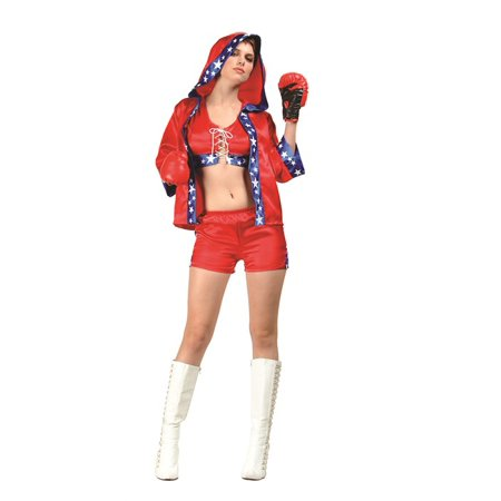 Adult Knock Out Sexy Boxer Costume