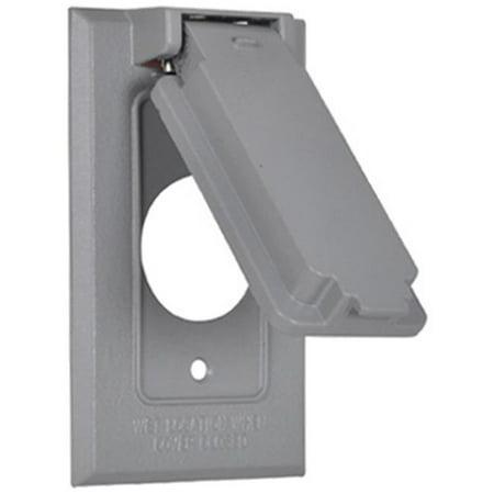 Image of 1C-SV Single Gang Vertical Flip Cover, Gray