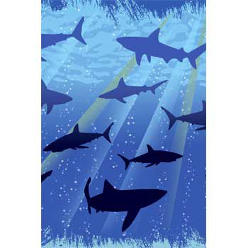 - Shark Party Table Cover, 1ct