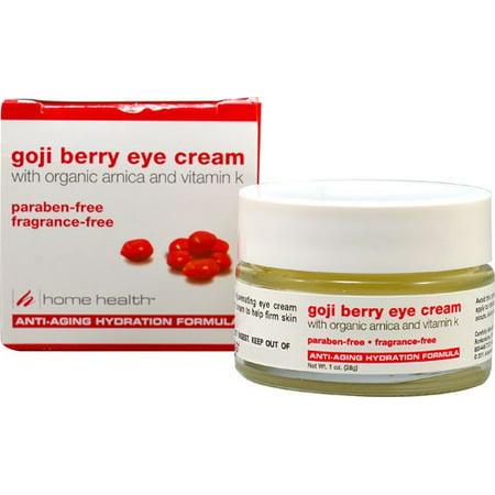 Home Health Goji Berry Crème Contour des Yeux avec arnica bio et vitamine K, 1 Oz