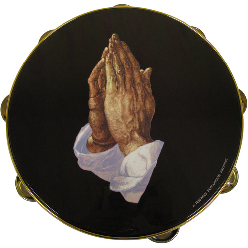 "Remo praying hands 10"" tambourine"