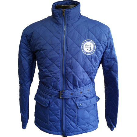 Buffalo Dallas Zeta Phi Beta Quilted Belt Ladies Riding Jacket [Blue - S] (Ride Women Snowboard Jacket)