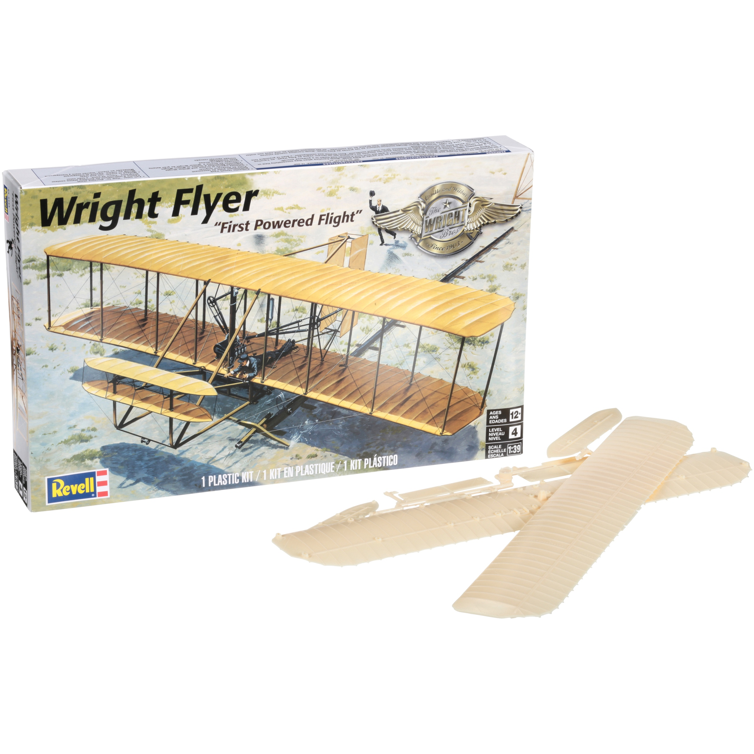 Revell® Wright Flyer Plastic Model Plane Kit 65 pc Box