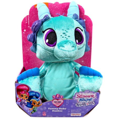 - Shimmer & Shine Sparkle Pets Tummy Rubs Nazboo Plush with Sound [Singing & Dancing]