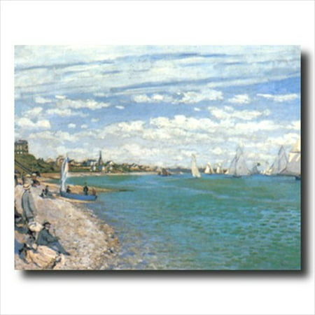 Monet Tropical Beach Sailboat Wall Picture Art (Monet Sailboats)