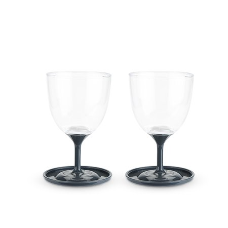 Roam™ Set of 2 Travel Wine Glasses by True](Black Stem Wine Glass)