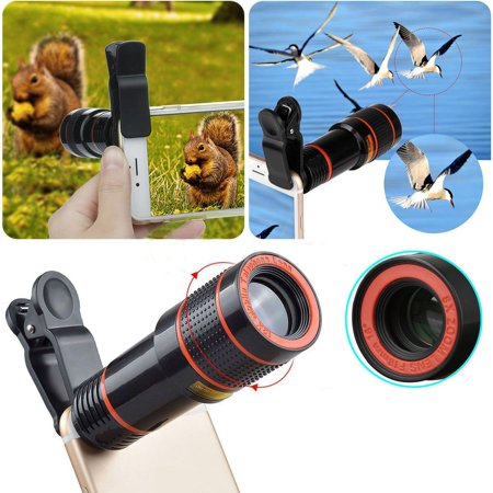 Cellphone Camera Lens, Clip-on Camera Lens, 8X Optical Zoom Telescope Lens Universal for iOS and Android Smartphones