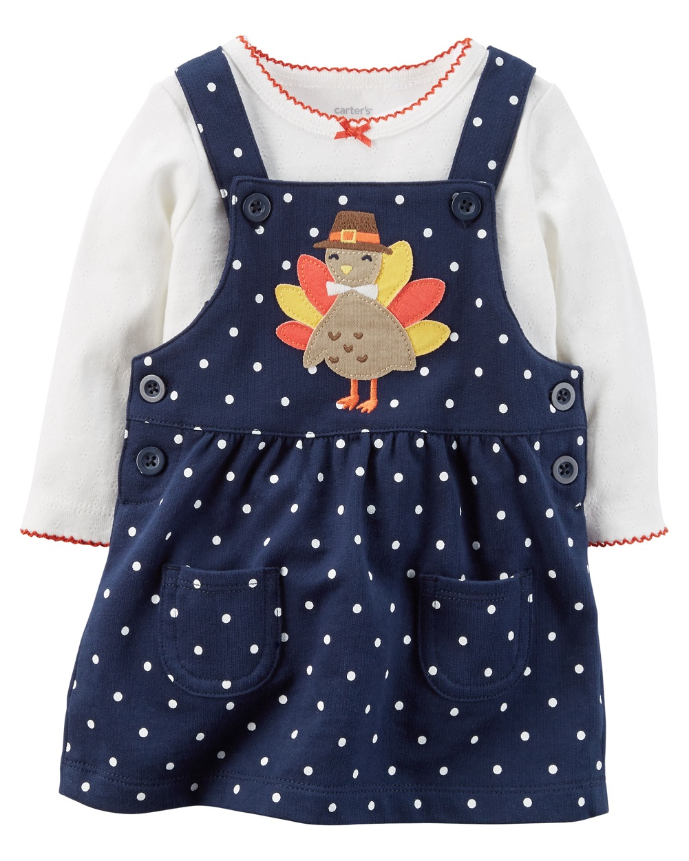 b3365193e Carter's - Carter's Baby Girls' 2-Piece Thanksgiving Bodysuit & Jumper Set,  3 Months - Walmart.com