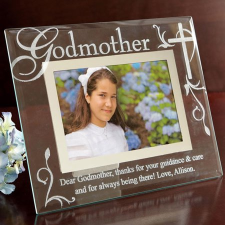 personalized godmothergodfather glass picture frame