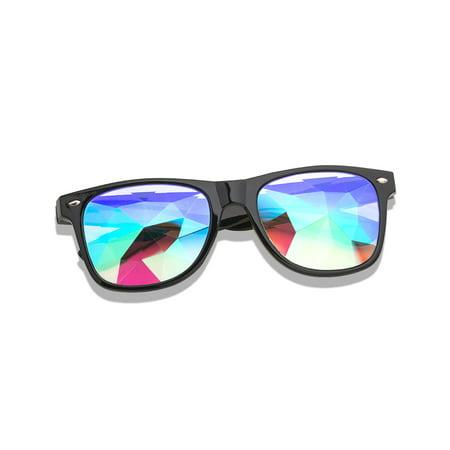 C.F.GOGGLE Fashion Carnival Diffraction Glasses Kaleidoscope Rainbow Goggles EDM Festival Glass Crystal Lens