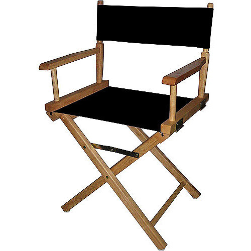"Director's Chair 18"", Natural Wood Base with Multiple Seat Colors"