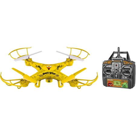 Angry Birds Licensed Chuck Squak-Copter 4.5-Channel 2.4GHz R/C Camera Drone