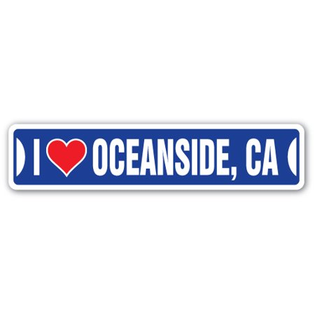 I LOVE OCEANSIDE, CALIFORNIA Street Sign ca city state us wall road décor - Halloween City Oceanside