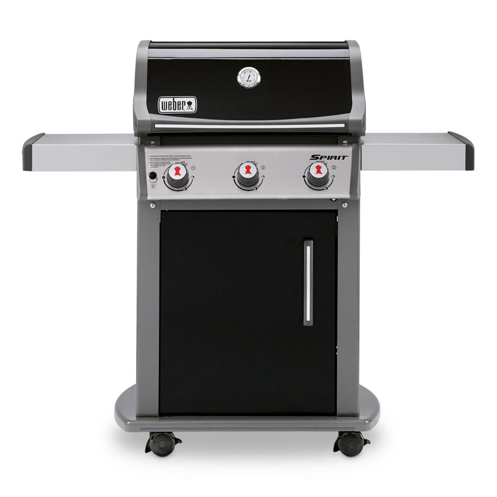 Weber Spirit E-310 3-Burner LP Gas Grill, Black