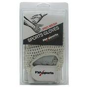 Flexsports International Pro Mesh Sports Gloves, White, Medium