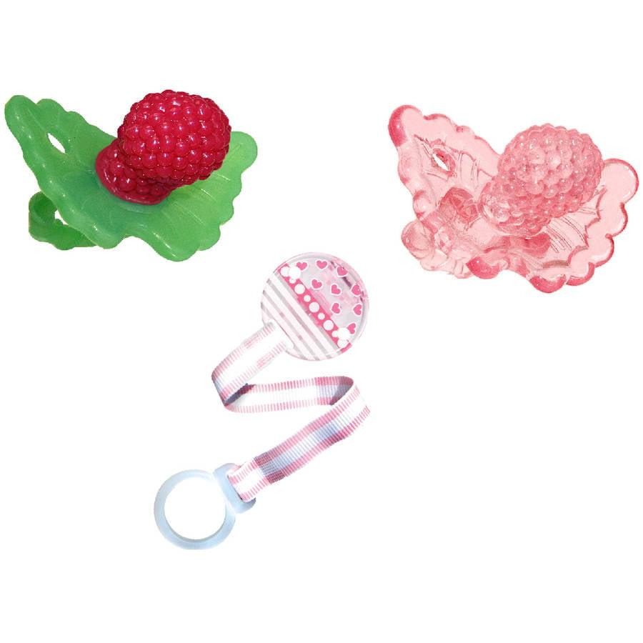 RaZbaby RaZ-Berry Silicone Teether - Pink