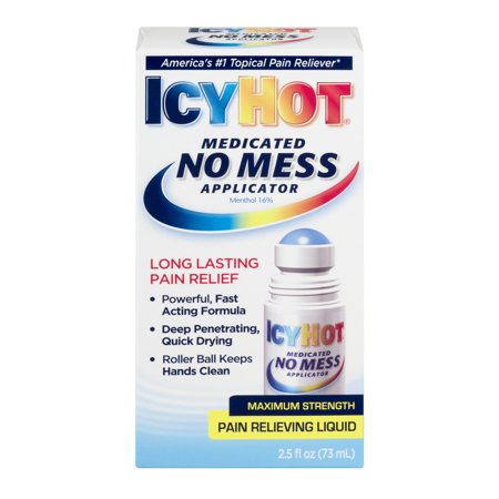 Icy Hot Maximum Strength Pain Relieving Liquid No Mess Applicator  2 5 Fl Oz