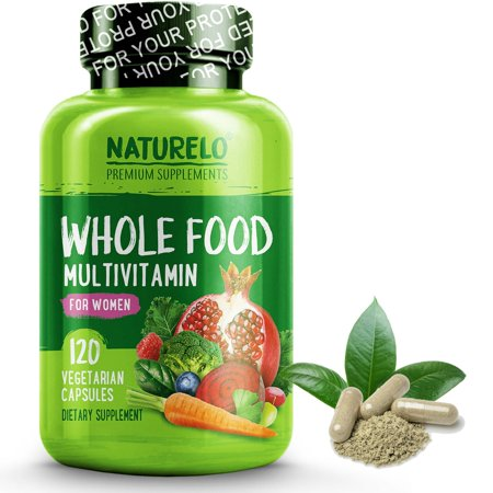 Whole Food Multivitamin For Women   Vegan Vegetarian   120 Capsules