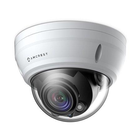 Amcrest UltraHD 2688P 1520TVL Varifocal PoE Dome Outdoor Security Camera, 4MP 2688x1520, 164ft Night Vision, Motorized Varifocal Lens 40°-90°, White (AF-2MVD-VARIW) ()
