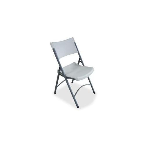 LORELL Folding Chair, 18-1/2x21-7/8x33-1/8, 4/CT, Platinum