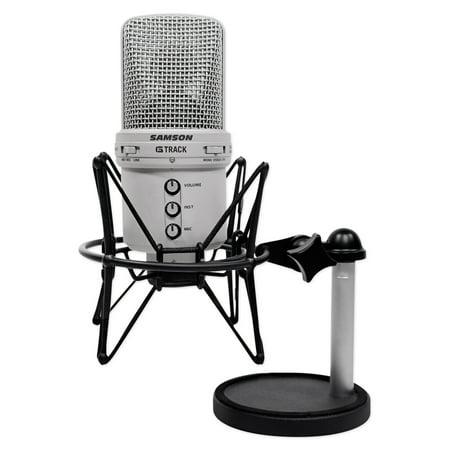 Samson G-Track Condenser Recording Podcast USB Microphone+Interface+Shock