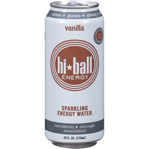 Hi-Ball Energy Vanilla Sparkling Energy Water, 16 fl oz, (Pack of 12)