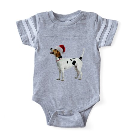 CafePress - FIN English Foxhound Santa CROP Baby Football Body - Cute Infant Baby Football Bodysuit - Santa Onesie