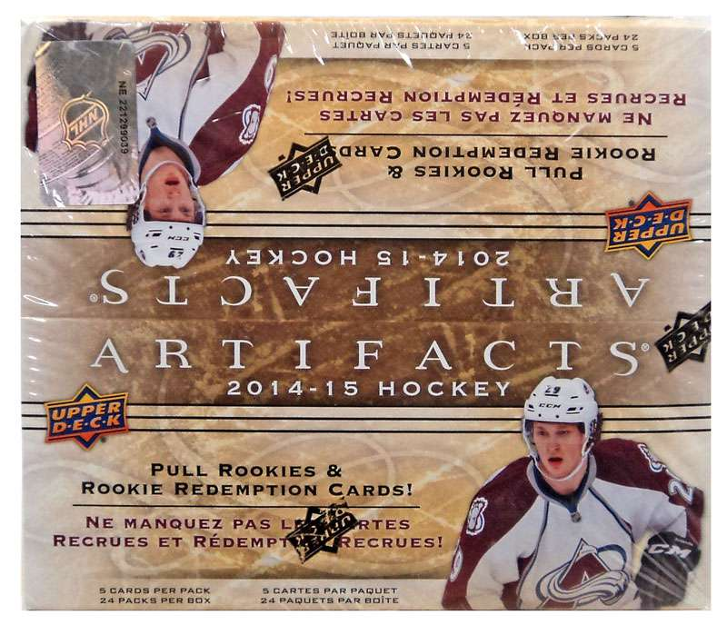 NHL 2014-15 Hockey Artifacts Trading Card Box by