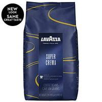 Lavazza Super Crema Whole Bean Coffee Blend, Medium Espresso Roast, 35.2 Ounce Bag