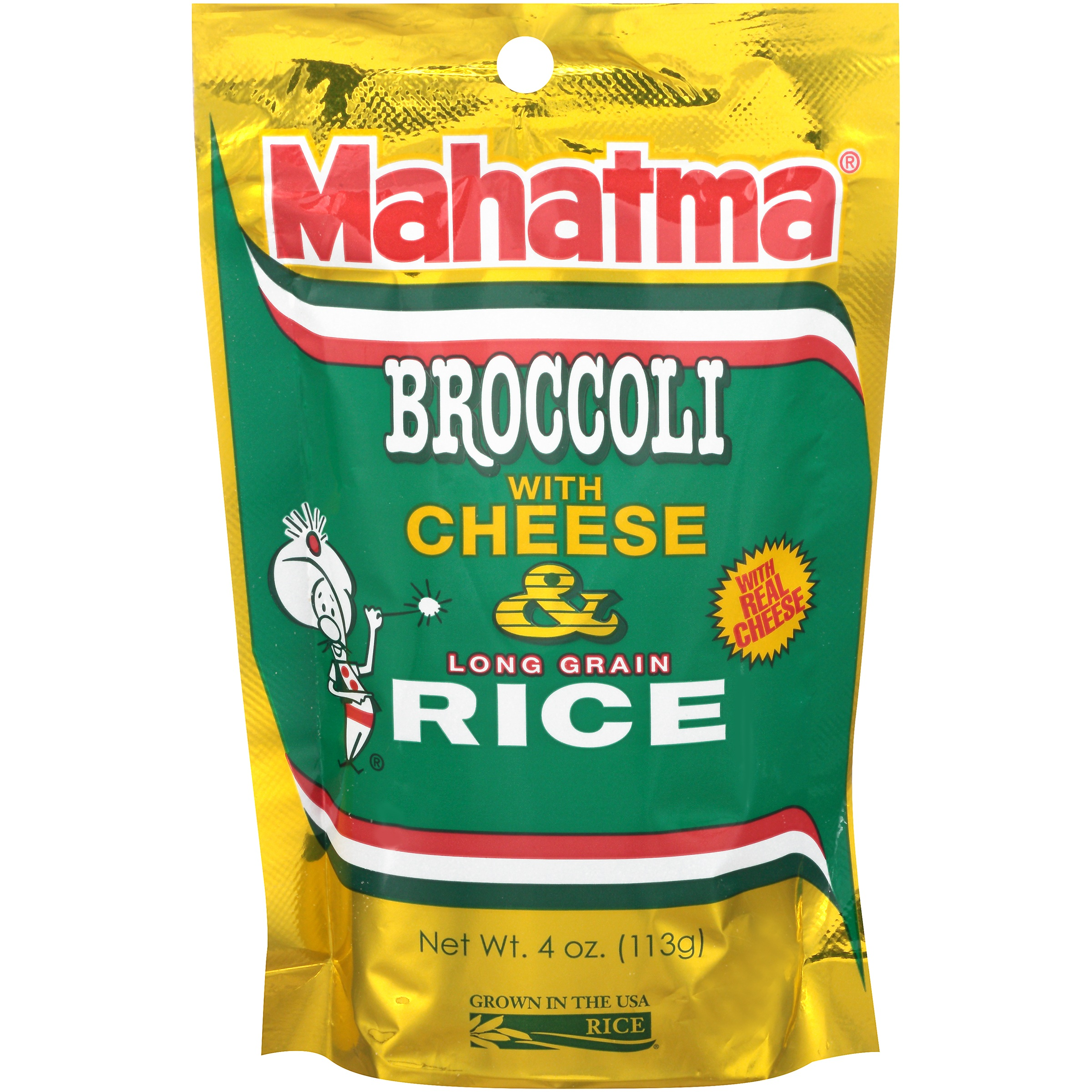 Mahatma® Broccoli with Cheese & Long Grain Rice 4 oz. Bag