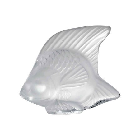 - Lalique Opaque Clear Crystal Fish 3000000