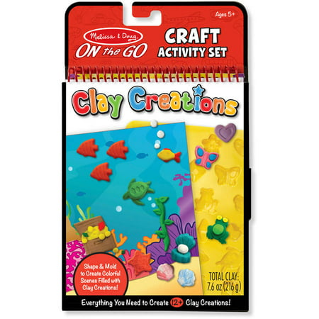 Melissa & Doug On the Go Clay Creations Craft Kit With 6 Clay Colors and Sculpting - Melissa & Doug Clay