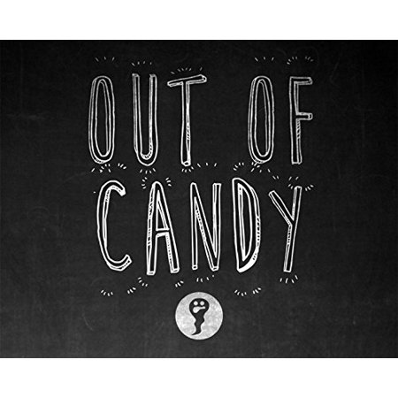 Out Of Candy Print Black and White Chalkboard Design Halloween Decoration Ghost Picture Pattern Wall Hanging Seasonal - Halloween Wall Hanging Patterns