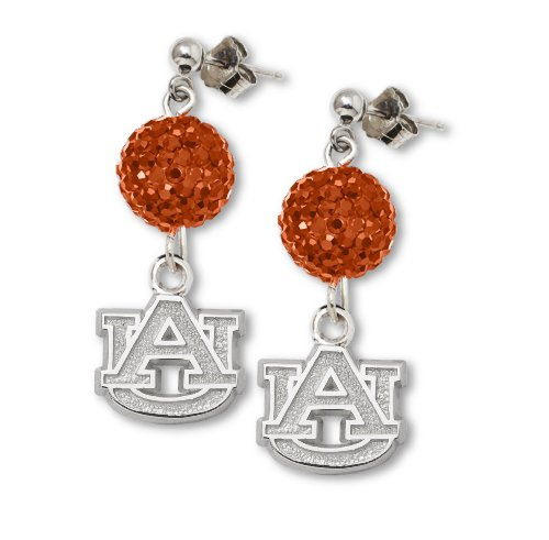 Auburn University S/S AUBURN UNIV CRYSTAL OVATION EARRINGS