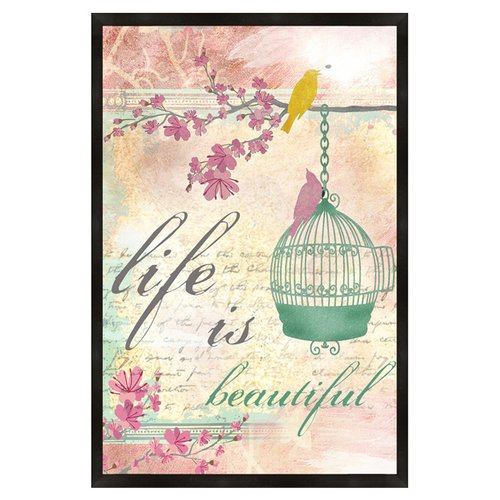 PTM Images Life Is Beautiful Framed Textual Art