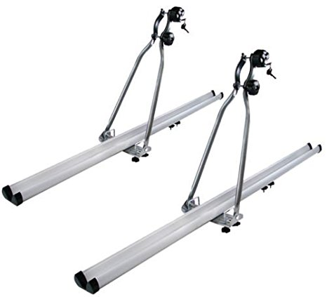 TMS Aluminum Folding Upright Roof Mount Bike Rack For Car SUV  Rooftop Folding Bicycle Rack Carrier 2X (For 2 Bikes)