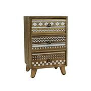 Urban Designs 7706634 Basic Art 3-Drawer Wood Jewelry Box - 125 x 6.25 x 8 in.