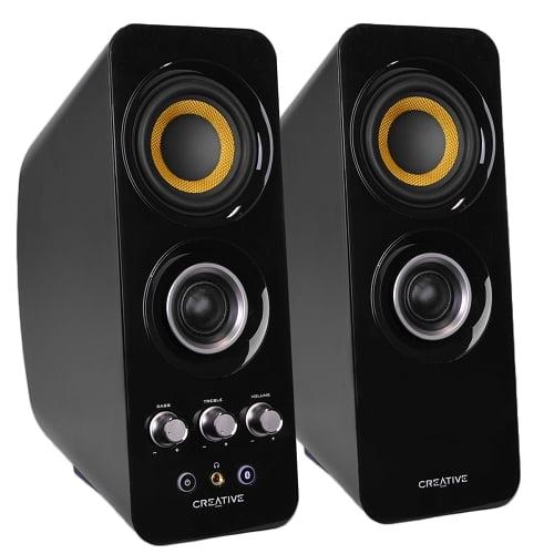Creative Labs T30 2-Piece Wireless 2.0 Bluetooth Speaker (Refurbished) by
