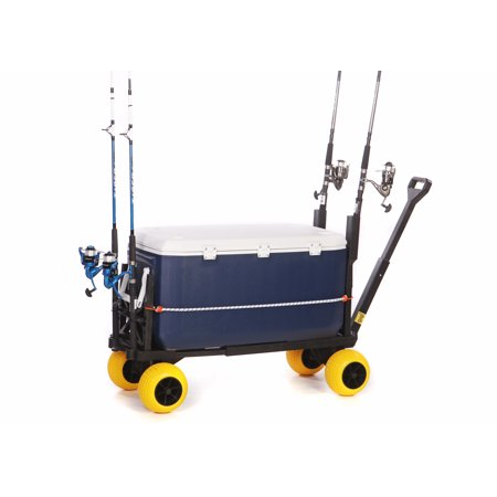 Surf fishing cart hand pulled carts and wagons with fish for Surf fishing cart
