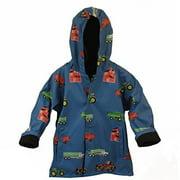 Foxfire FOX-601-16-6 Childrens Blue Farm Equipment Raincoat - Size 6