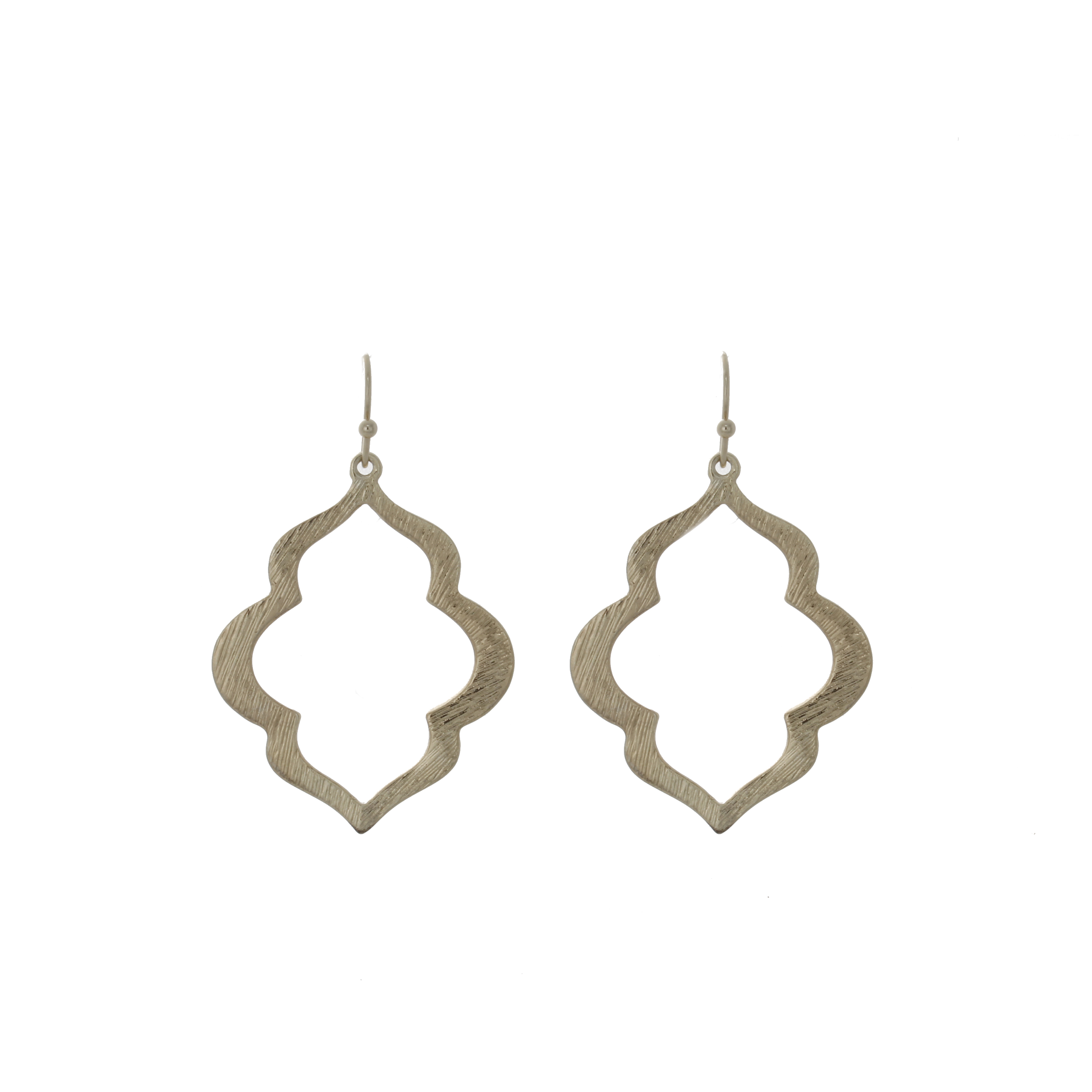 Geometric Open Drop Earring