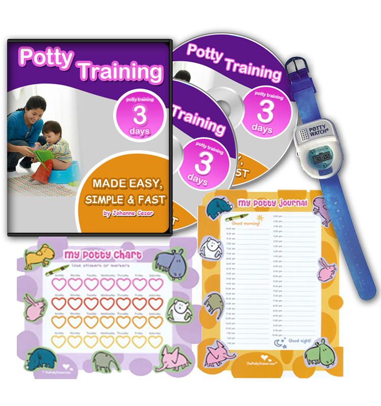 Potty Training In 3 Days - Ultimate Potty Training for Boys. Complete Toilet Training Kit Includes Potty Train In 3 Days Audio Guide, Laminated Potty Training Charts & Blue Potty Time Watch (Blue)