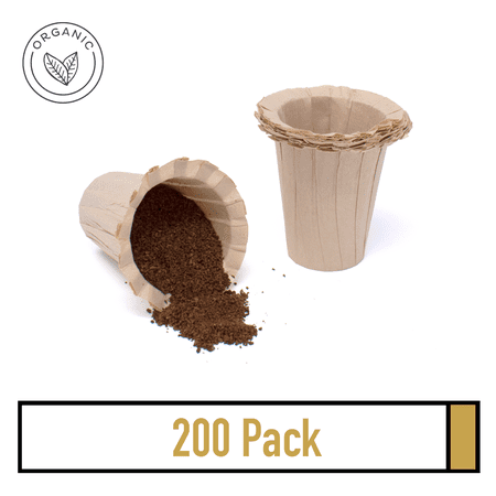 200 K-Carafe Disposable Single Use Paper Filter - Organic and Natural Coffee Filters for Keurig - Organic Coffee Filters