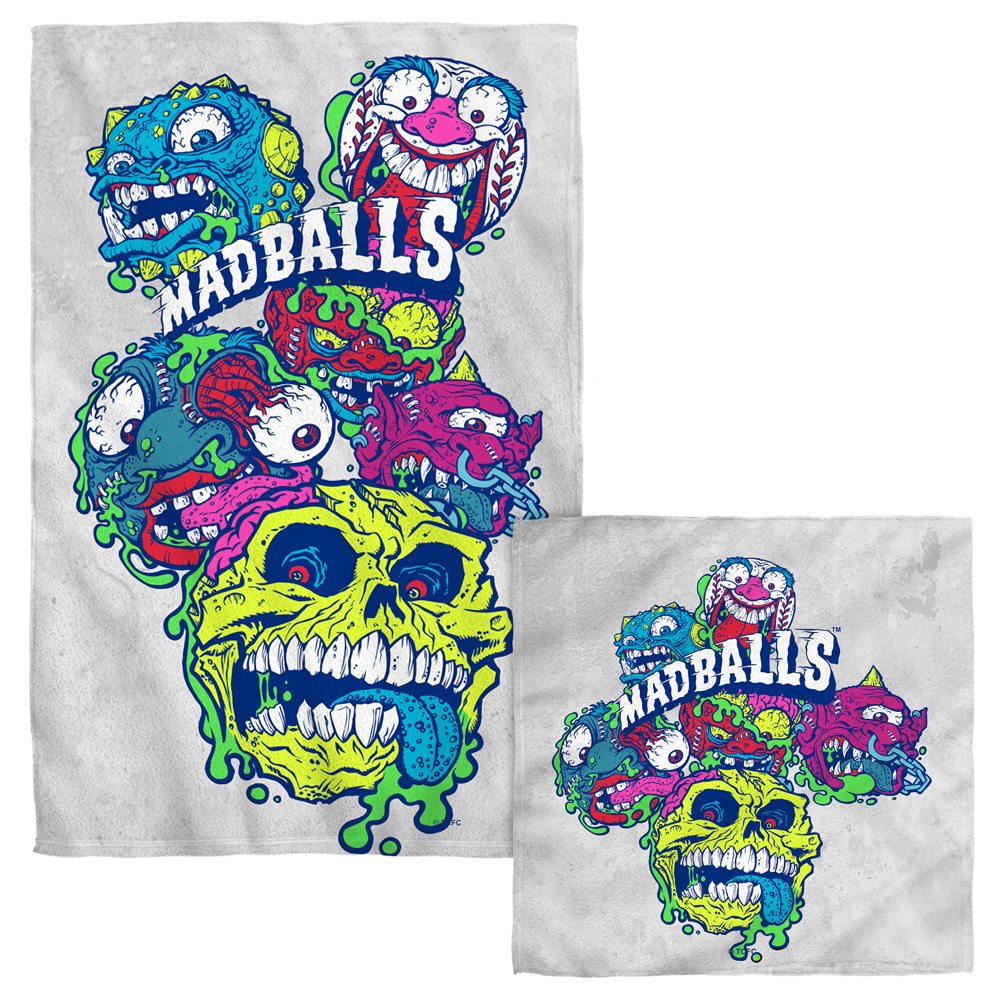 Madballs Squished Face Hand Towel Combo White