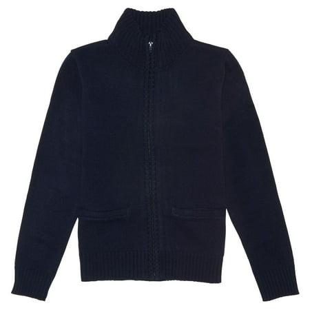 French Toast School Uniform Zip Front Sweater (Little Boys & Big Boys)