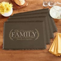 Personalized Better Together Placemats - Brown