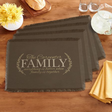 - Personalized Better Together Placemats - Brown