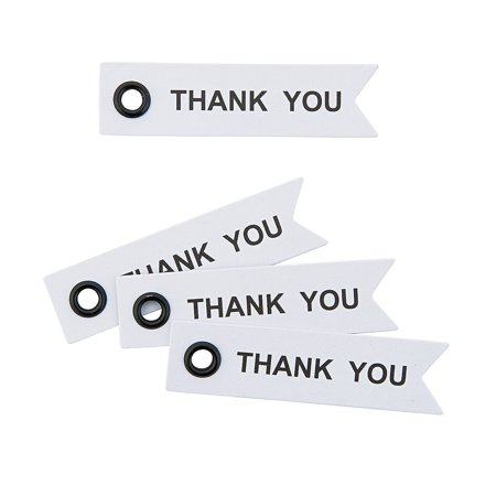 Fun Express - Thank You Eyelet Tags - Craft Supplies - Scrapbooking Embellishments - Misc Scrapbooking Embellishments - 40 Pieces ()